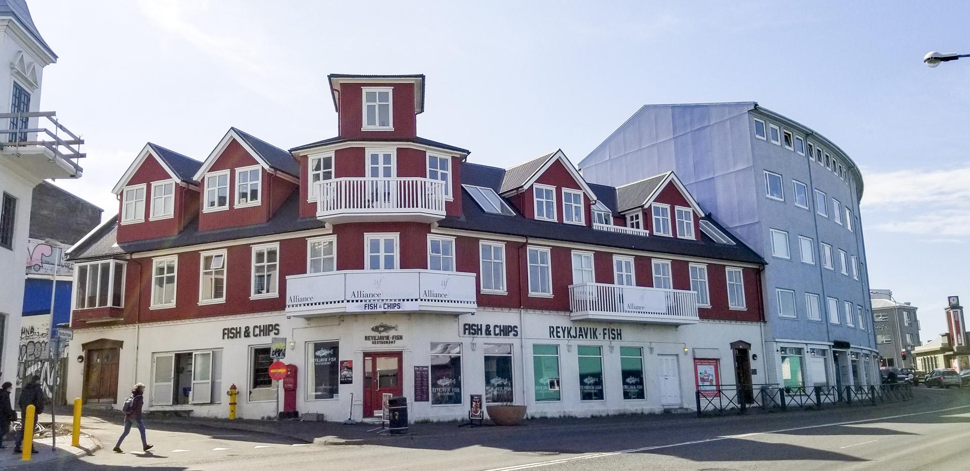 Tryggvagata 8 building, Reykjavík, Iceland.