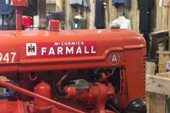 A Farmall tractor sits in the gift shop of Geysir Center.