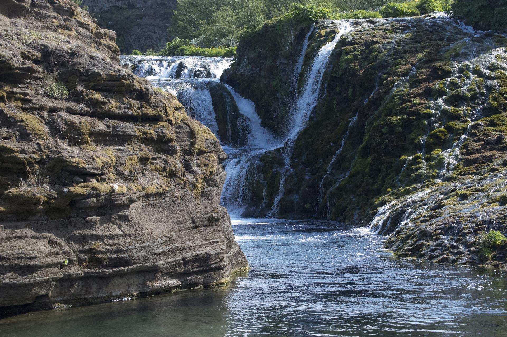 Rauðá river, Gjáin area, Þjórsárdalur valley, Árnessýsla, Suðurland region, Iceland.