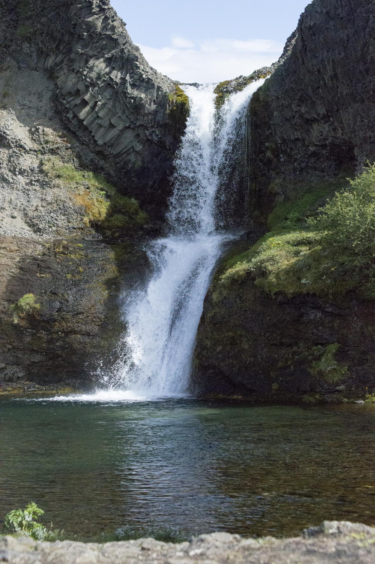 Gjárfoss waterfall, Gjáin area, Þjórsárdalur valley, Árnessýsla, Suðurland region, Iceland.