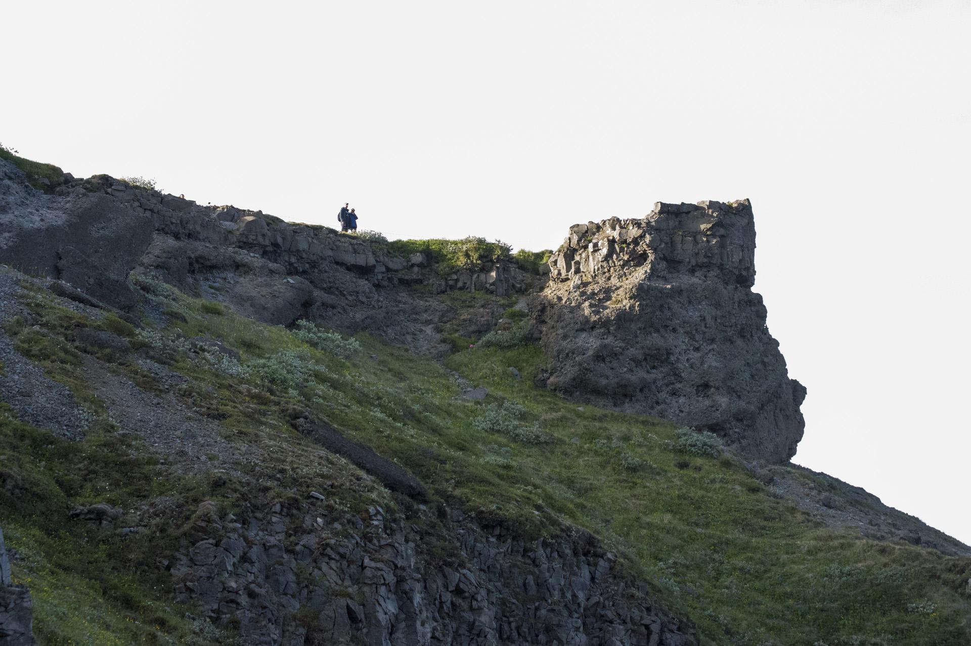 Bluff overlooking Gullfoss waterfall, Suðurland region, Iceland