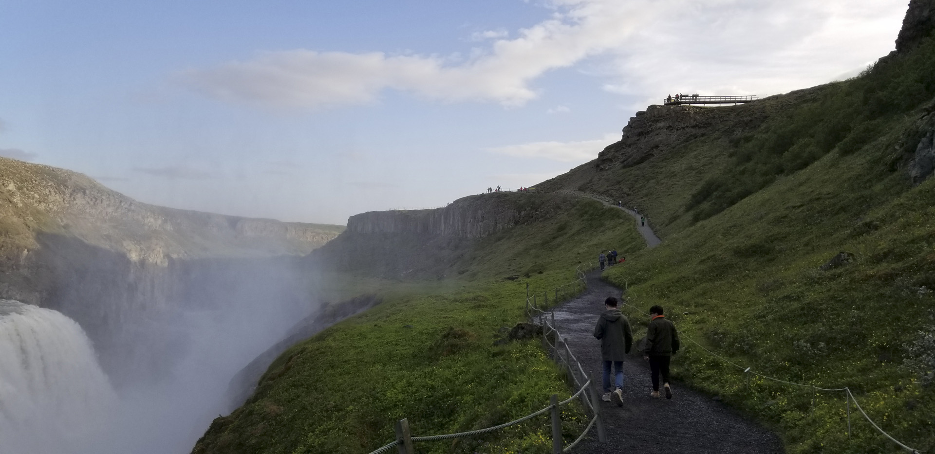 The path leading back to the visitor entrance to Gullfoss, Suðurland region, Iceland.