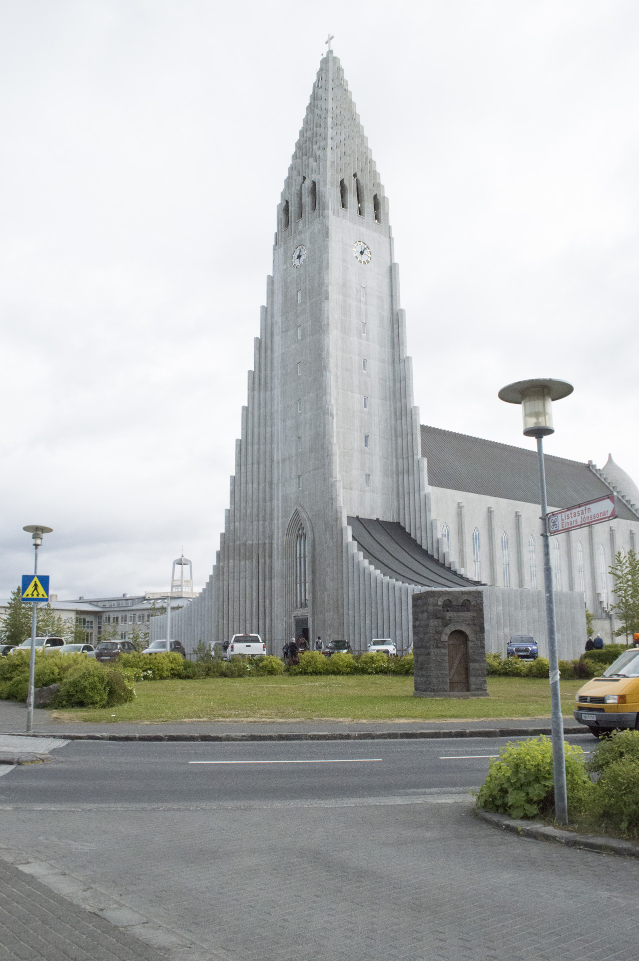 Hallgrímskirkja, Reykjavík, Iceland. The church is the second-tallest building in Iceland.