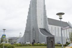 Hallgrímskirkja, Reykjavík, Iceland. The church is the second-tallest building in Iceland.