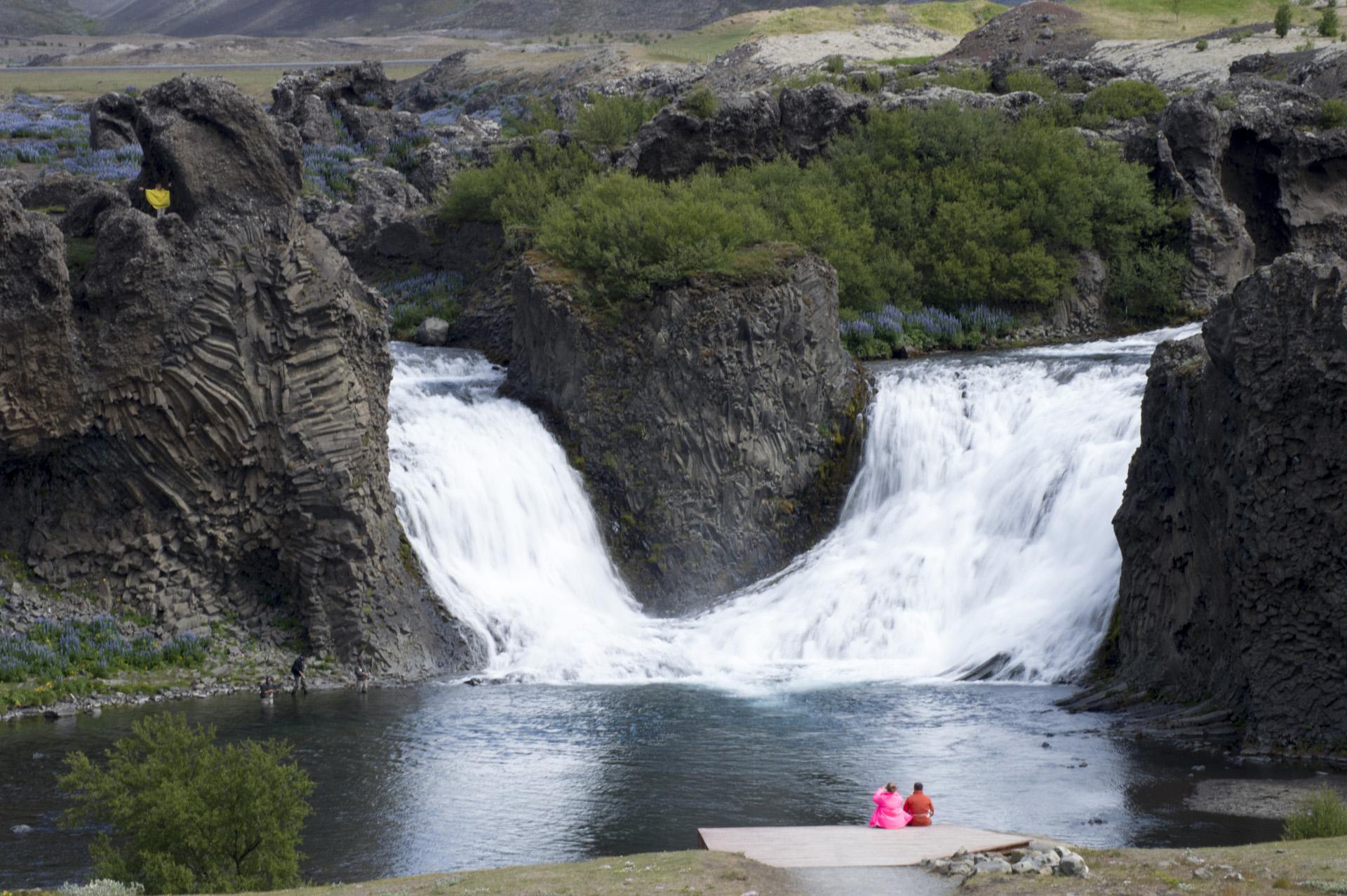 Hjalparfoss waterfall, Suðurland region, Iceland.