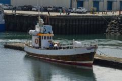 Ship docked in Reykjavík´s Old Harbor.