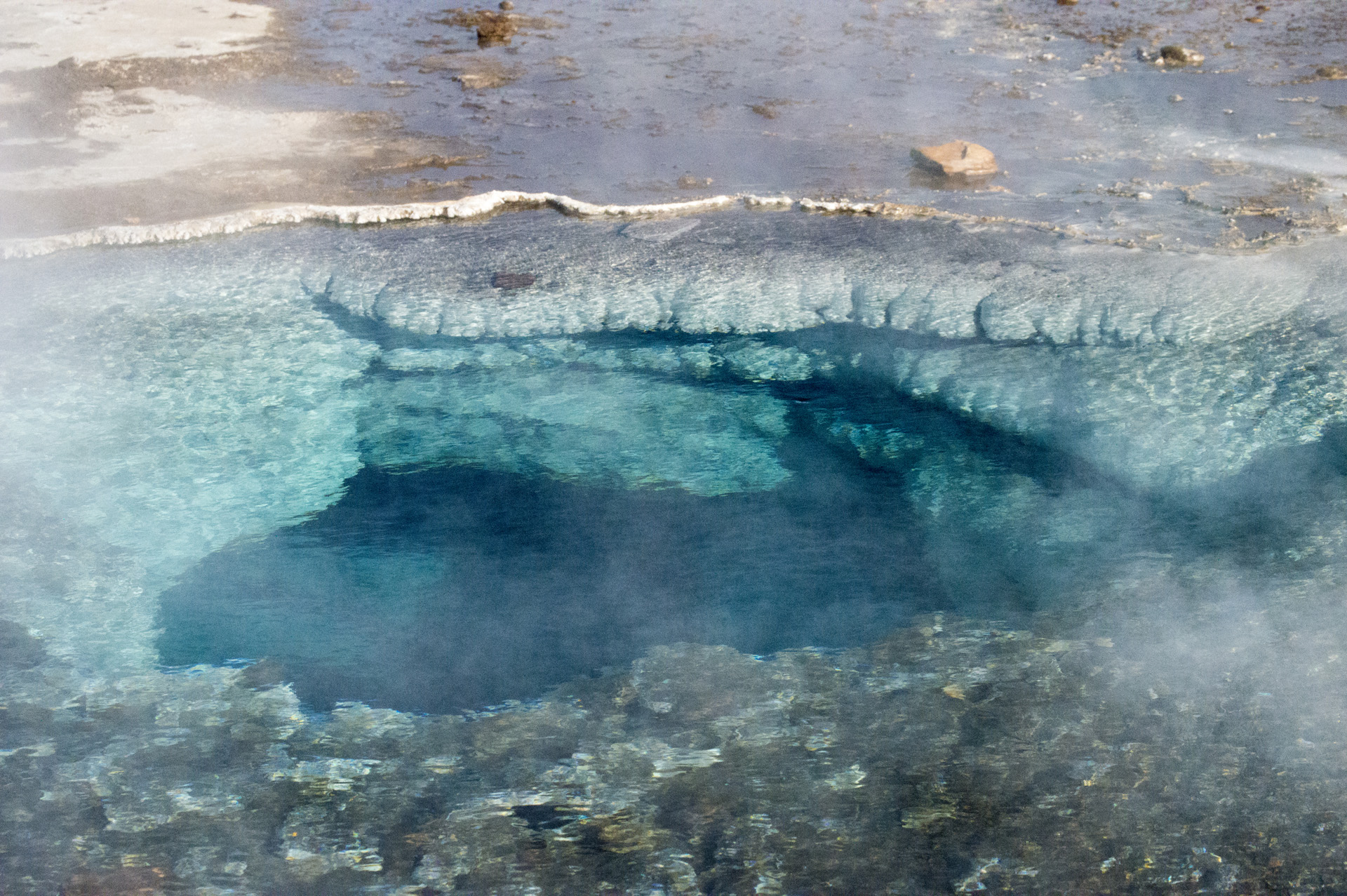 Southern spring of Blesi in the Geysir Hot Spring Area, Haukadalur Valley, Iceland