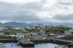 Stykkishólmur as seen from Súgandisey Island, Vesturland region, Iceland.