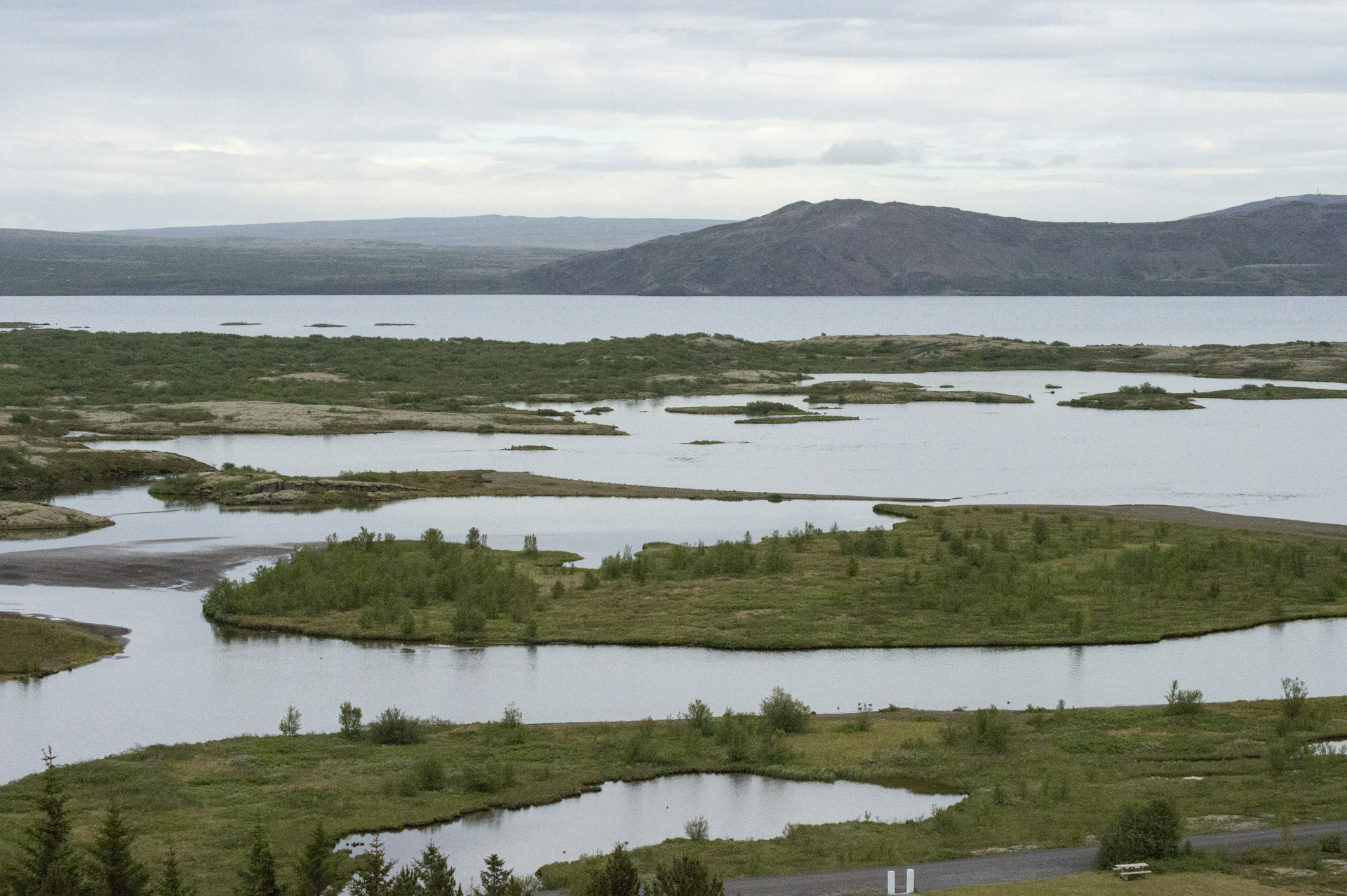 The rim of Þingvallavatn lake, Þingvellir National Park, Suðurland region, Iceland.
