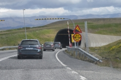 Southern entrance to Hvalfjarðargöng, the tunnel that runs more than 3.5 miles (5.7km) under Hvalfjörður (Whale Fjord), Capital region, Iceland.