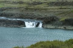 Small waterfall along Snæfellsnesvegur, Vesturland region, Iceland.