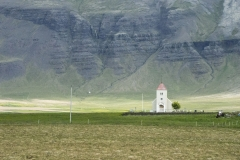 Rural church roughly 400 meters off of Snæfellsnesvegur, Vesturland region, Iceland
