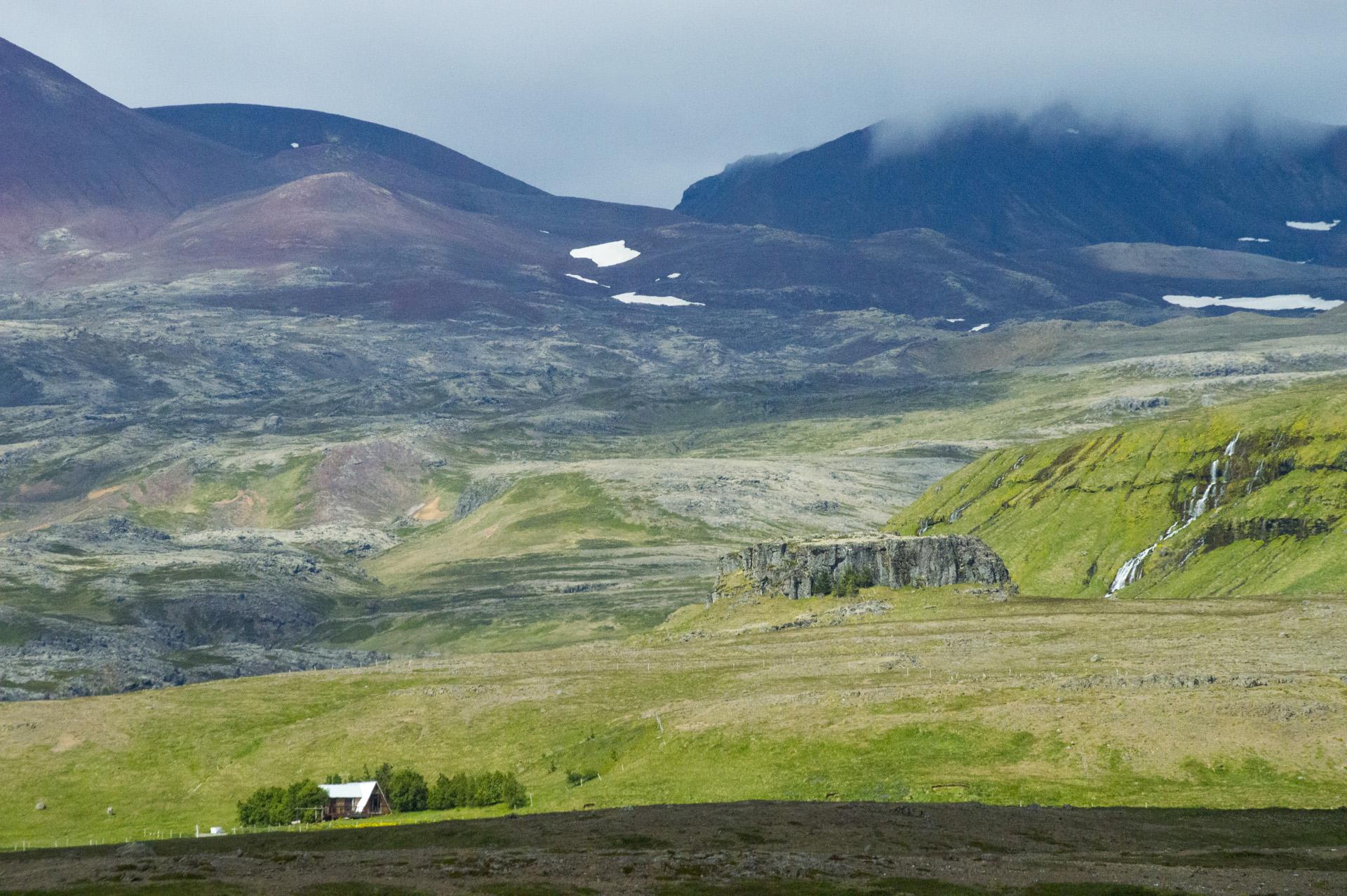 Base of Ljósufjöll (Mountains of the Light), Vesturland region, Iceland