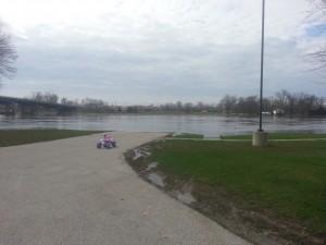 Rock River Flooding - From Harold's Landing, Moline.