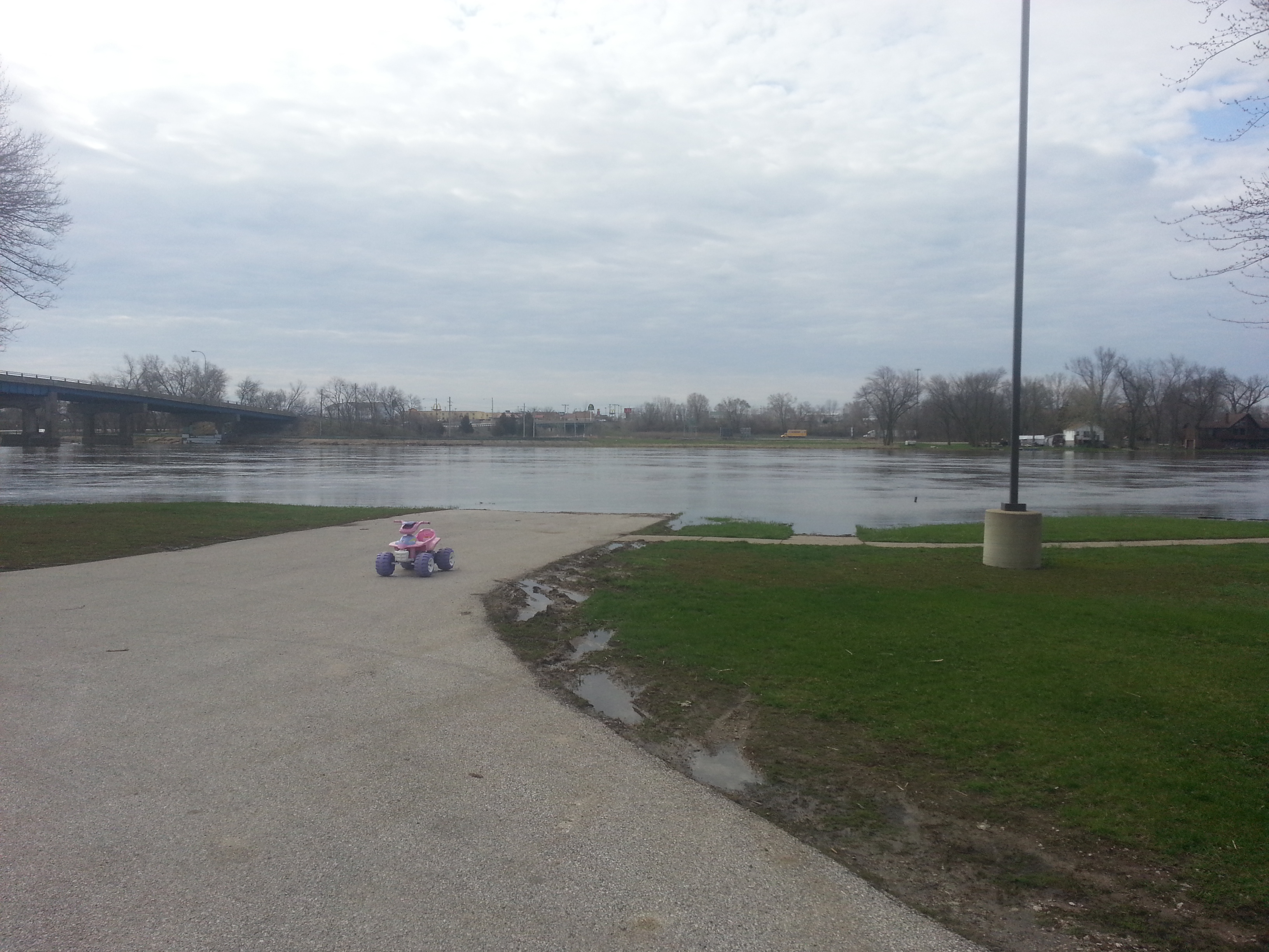 Rock River Flooding - From Harold's Landing, Moline.