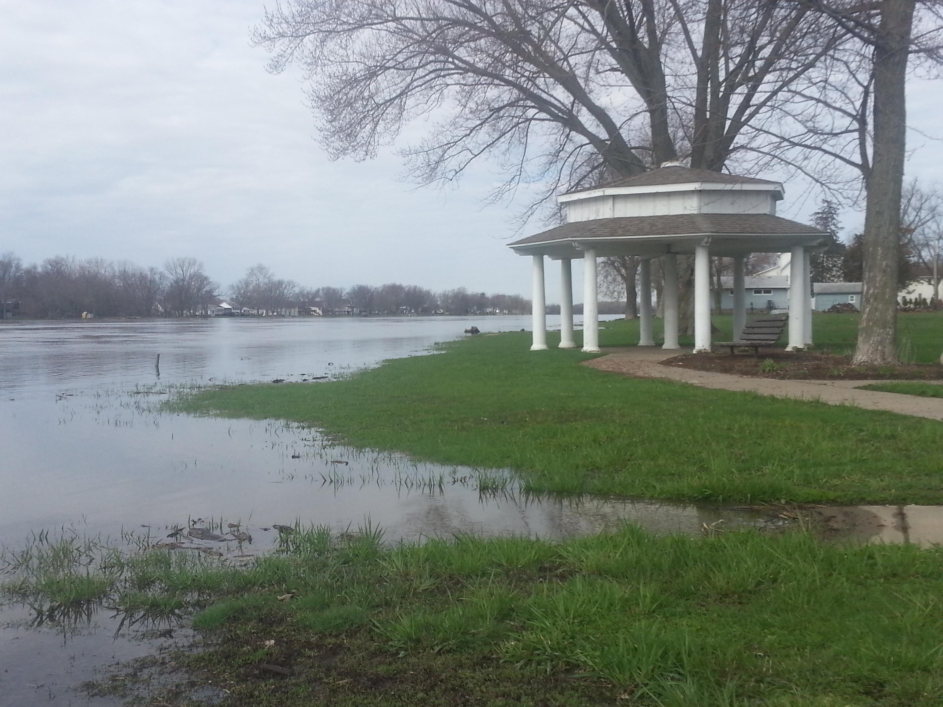 Rock River Flooding - Gazebo at Harold's Landing