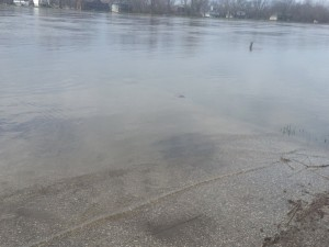Rock River Flooding - Submerged entry